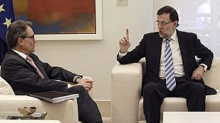Rajoy reitera que la consulta no es legal y Mas insiste en que puede serlo si hay voluntad política
