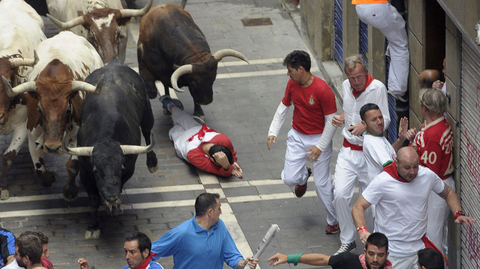 Segundo encierro de San Ferm�n 2015 con toros de El Tajo y La ...