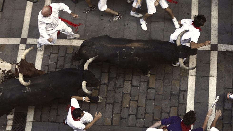 Tercer encierro de San Ferm�n 2015 con toros de Victoriano del R�o ...