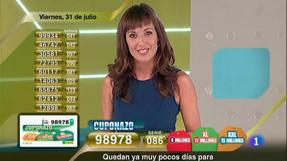 Sorteo ONCE - 31/07/15, Sorteos ONCE - RTVE.es A la Carta