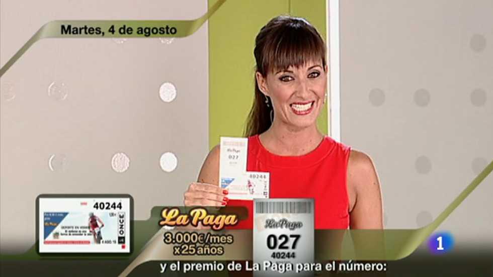 Sorteo ONCE - 04/08/15, Sorteos ONCE - RTVE.es A la Carta