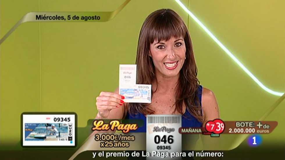 Sorteo ONCE - 05/08/15, Sorteos ONCE - RTVE.es A la Carta