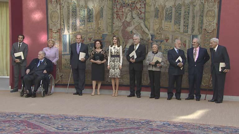 La princesa Letizia preside la entrega de las Medallas al Mérito Bellas Artes 2012